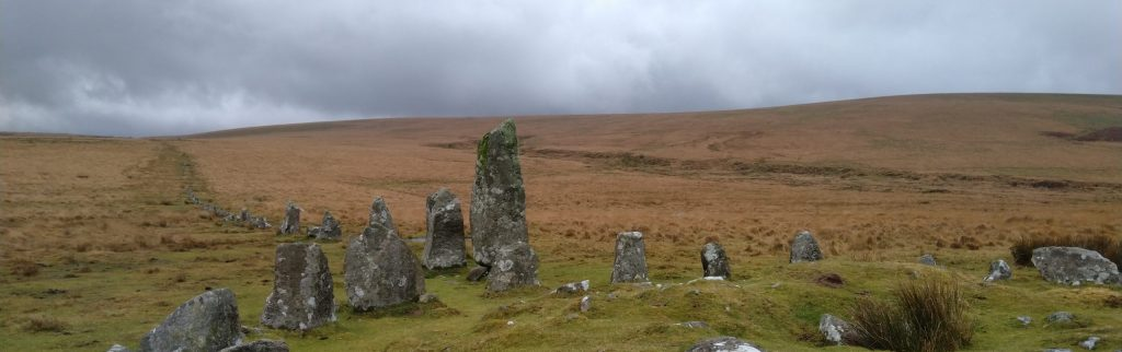 A stone circle on Dartmoor